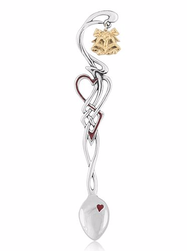 Enamelled Lovespoon with Bell Charm