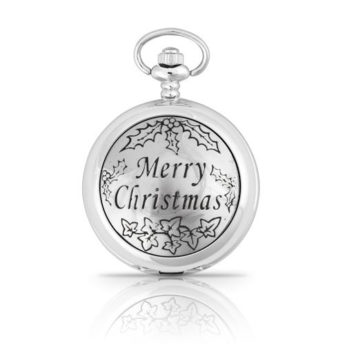 Merry Christmas Pocket Watch