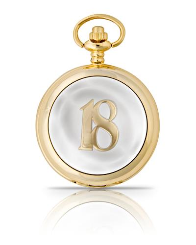 18th Birthday Pocket Watch Gold
