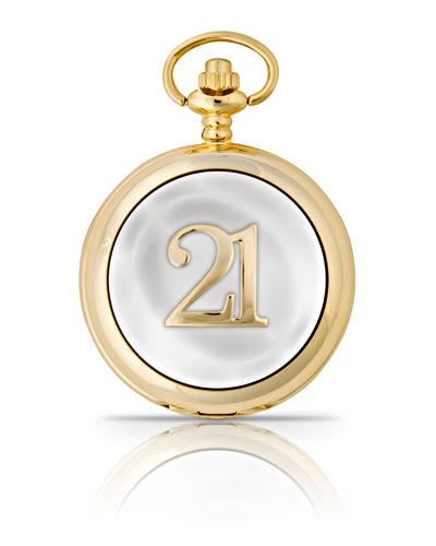 21st Birthday Pocket Watch Gold