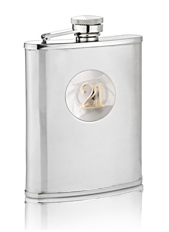 21st Two Tone Birthday Hip Flask