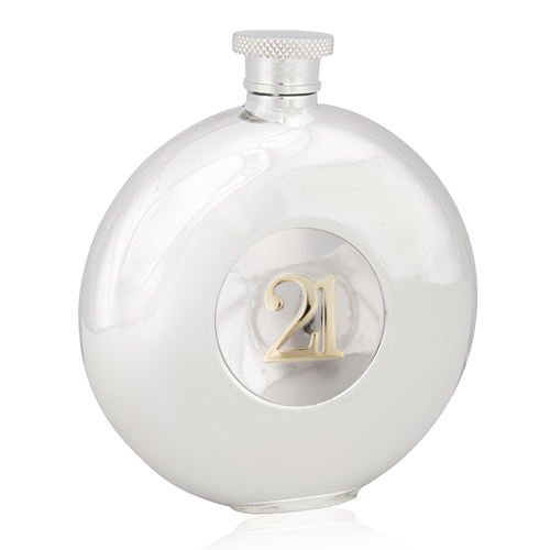 21st Two Tone Round Flask