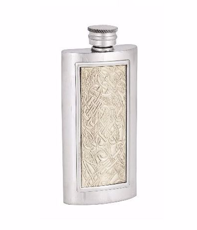 3oz Luxury Hip Flask with Brass Insert