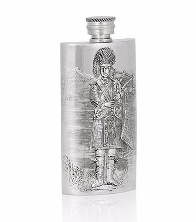 3oz Luxury Hip Flask with Piper