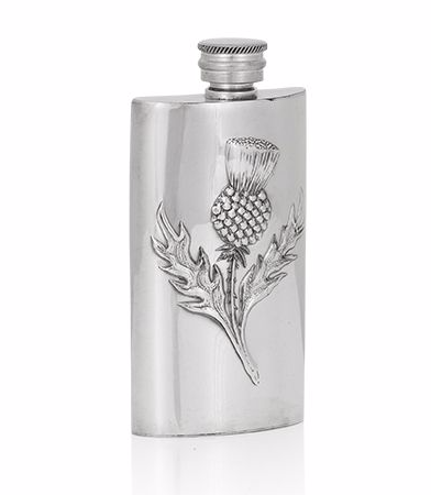 3oz Luxury Hip Flask with Thistle