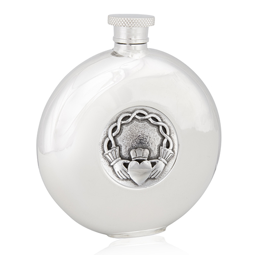 Celtic Claddagh Round Flask