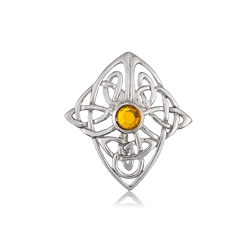 Perfect Celtic Cross Knot Pewter Brooch .
