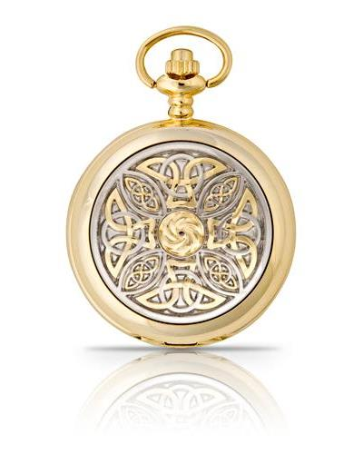 Celtic Knot Pocket Watch Gold