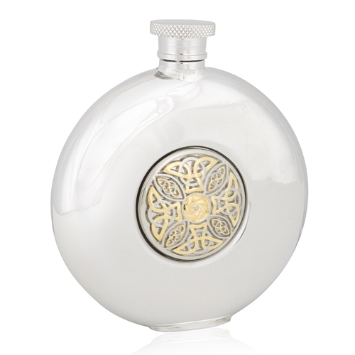 Celtic Knot Two Tone Round Flask
