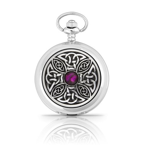 Celtic Knot With Stone Pocket Watch