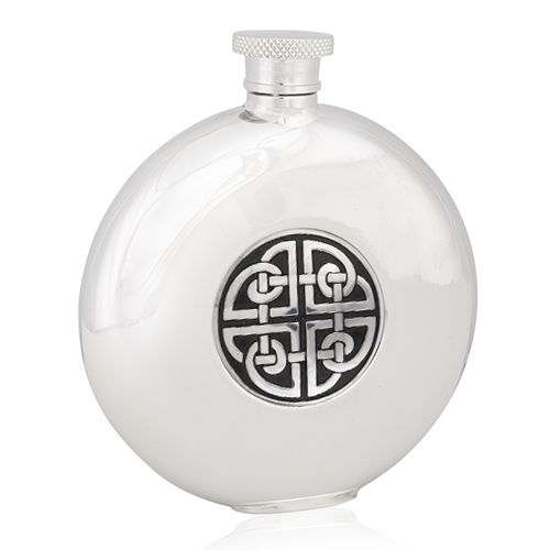 Celtic Knotwork Round Flask