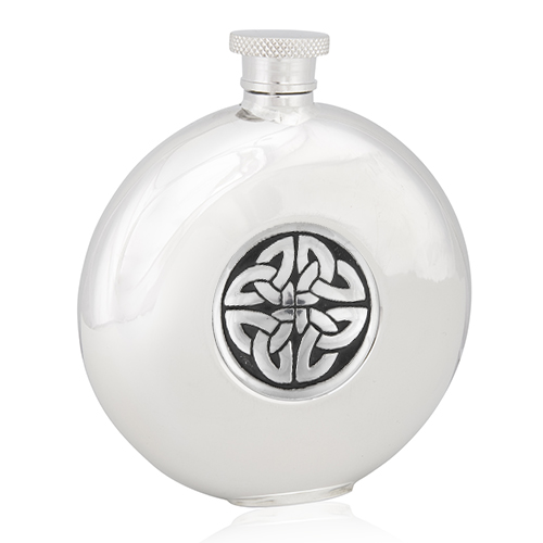 Celtic Triag Knot Round Flask