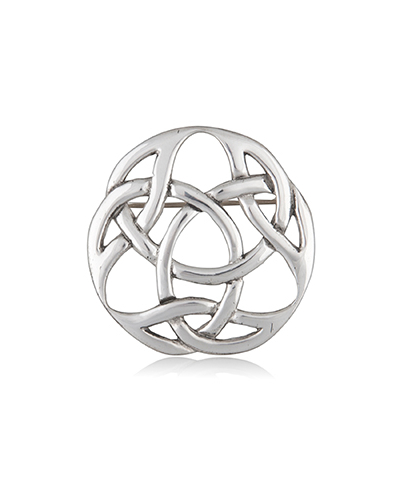 Durrow Knotwork Pewter Brooch