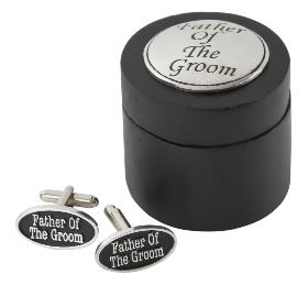 Father Of The Groom Cufflinks In Wooden Box
