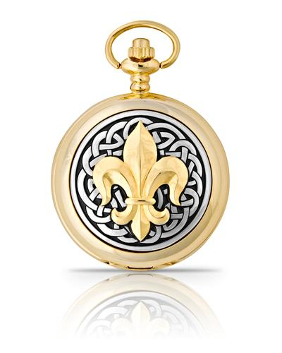 Fleur De Lis Pocket Watch Gold