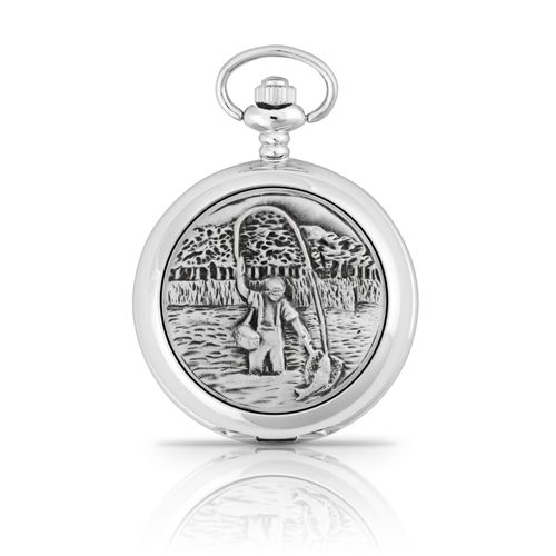 Fly Fishing Pocket Watch