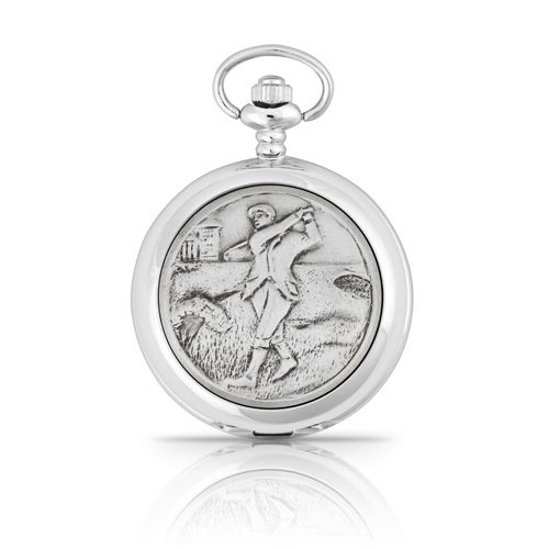 Golfer Mechanical Pocket Watch