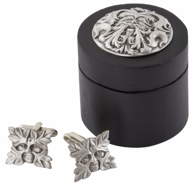 Greenman Cufflinks In Wooden Box