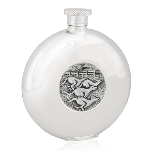Greyhound Racing Round Flask