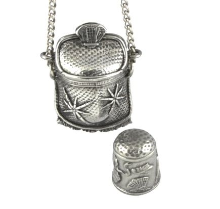 Handbag Thimble Case Pendant