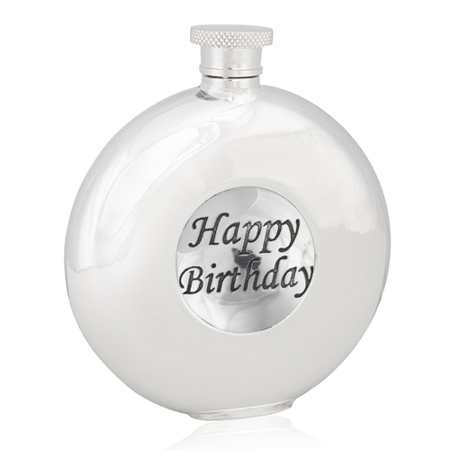 Happy Birthday Round Flask