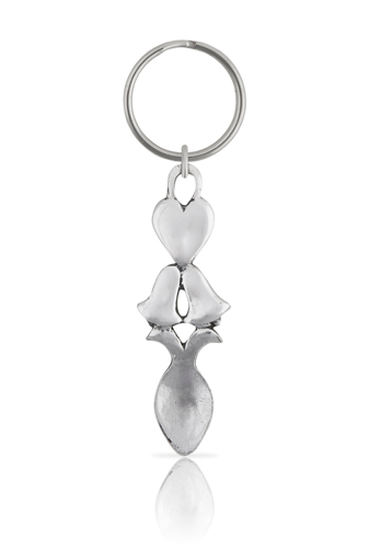 Heart and Bells Lovespoon Keyring