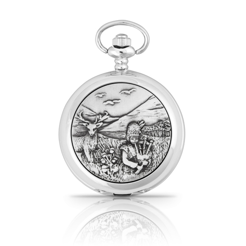 Highland Piper Mechanical Pocket Watch