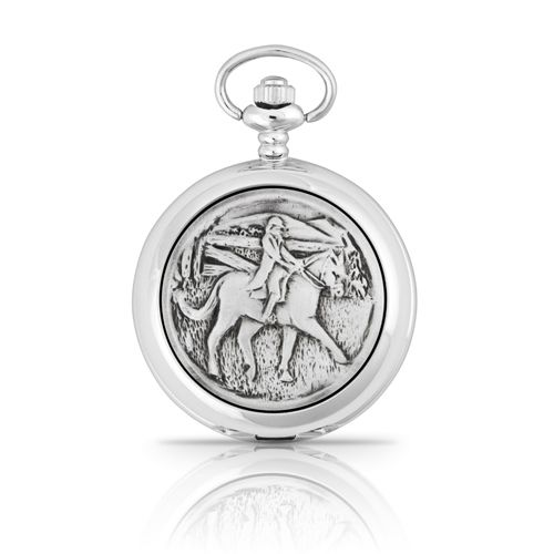 Horse and Rider Mechanical Pocket Watch