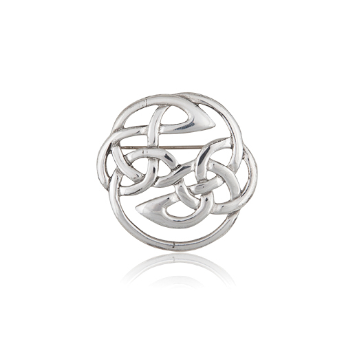 Interlace Knot Pewter Brooch