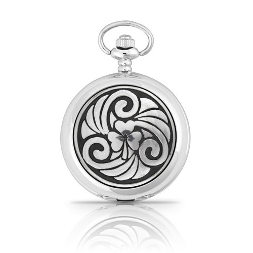 Irish Shamrock Mechanical Pocket Watch