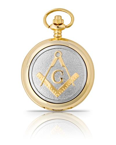 Masonic G Pocket Watch Gold