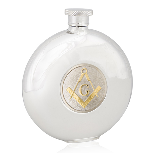 Masonic G Two Tone Round Flask