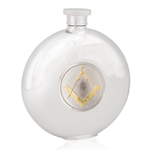 Masonic Two Tone Round Flask