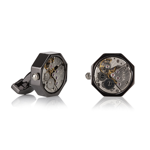 Mechanical Hexagon Cufflinks
