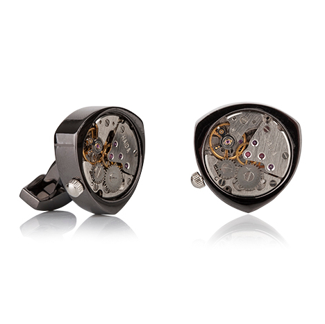 MECHANICAL REULEAUX TRIANGLE CUFFLINKS