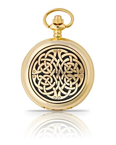 Never Ending Knot Pocket Watch Gold