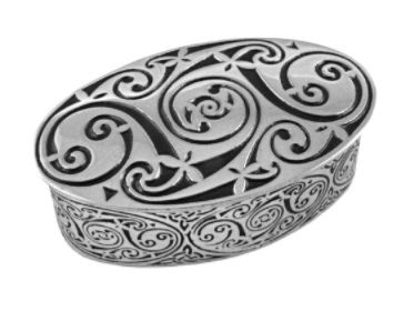 Oval Swirl Celtic Box