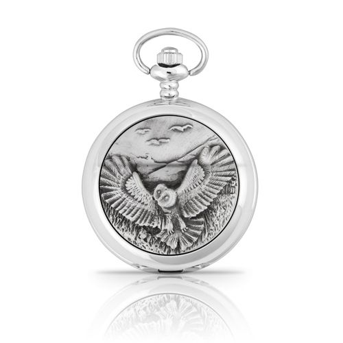 Owl Mechanical Pocket Watch