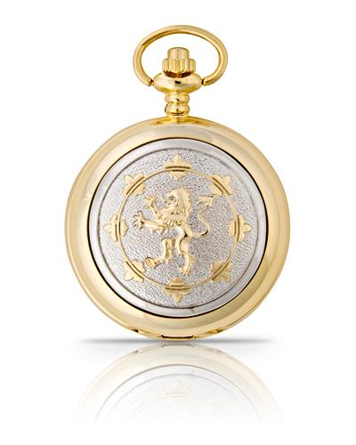 Rampant Lion Pocket Watch Gold