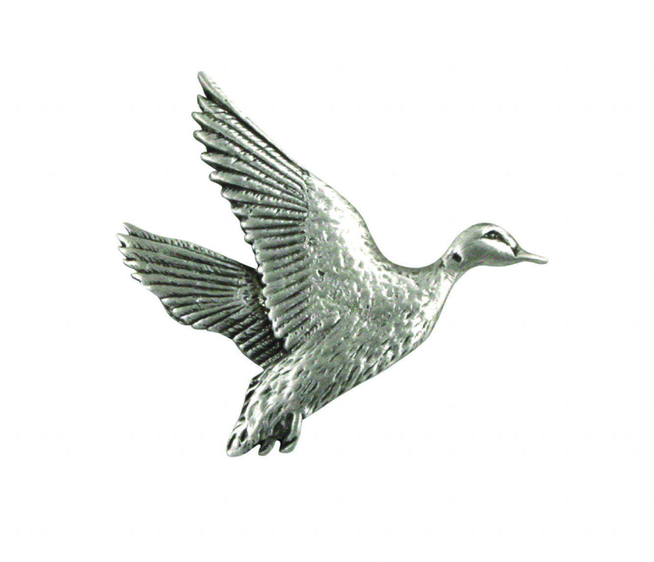 Rising Mallard  made from fine English pewter cuff link or tie slide or the set or stick pin code B12 bird birds
