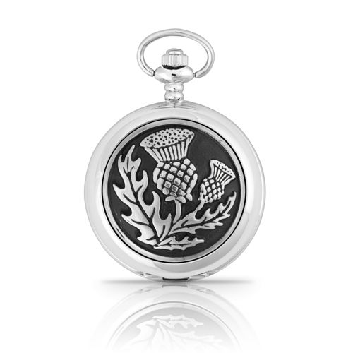 Scottish Thistle Mechanical Pocket Watch