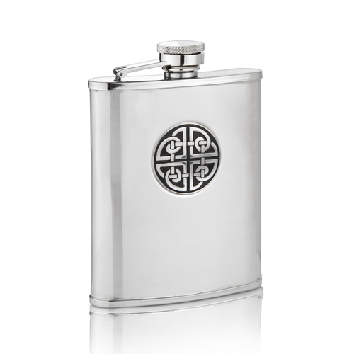 Square Knot Hip Flask