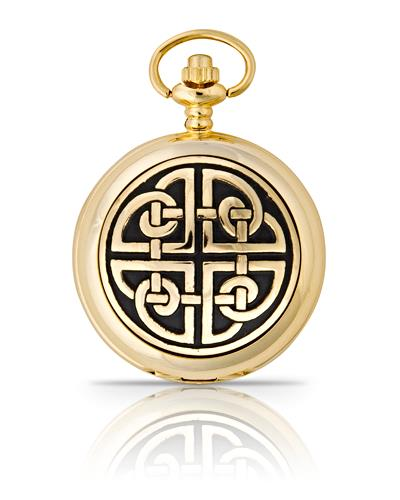 Square Knot Pocket Watch Gold