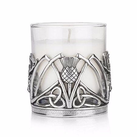 Stag&Thistle Holder with Candle