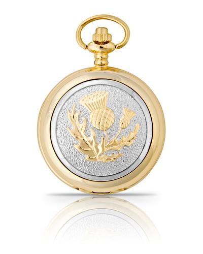 Thistle Pocket Watch Gold