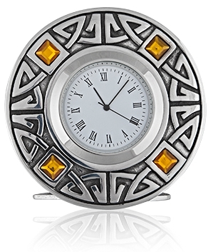 Topaz Celtic  Clock