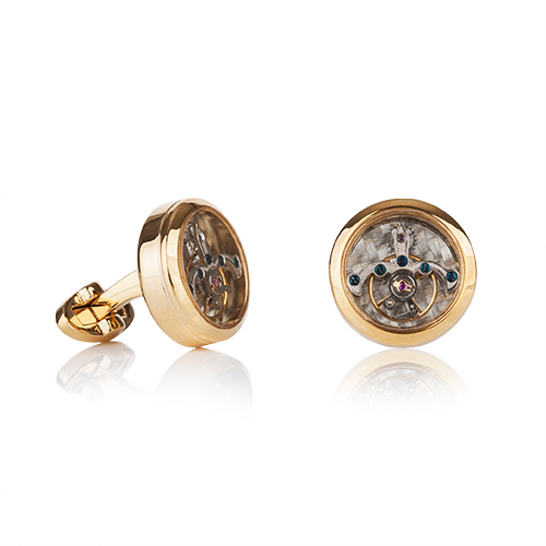 Tourbillion Gold Finish Cufflinks
