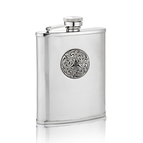 Triple Swirl Hip Flask