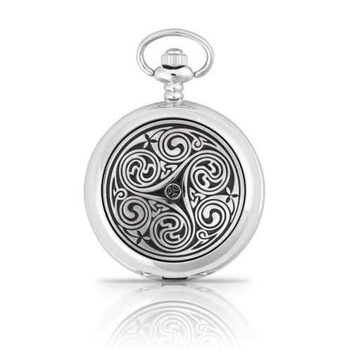 Triple Swirl Mechanical Pocket Watch