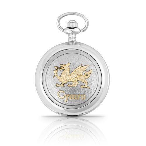 Two Tone Cymru Mechanical Pocket Watch